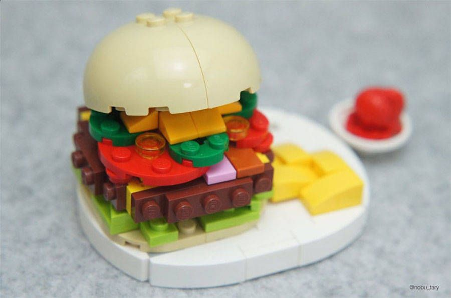 hamburguesa comida lego japon