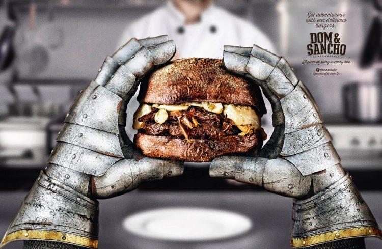 hamburguesa don quijote grafica creatividad