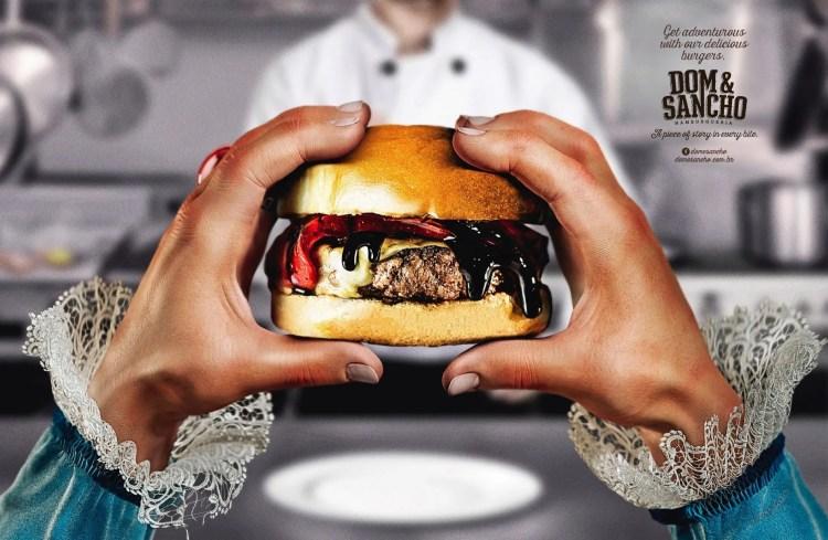 hamburguesa sancho panza grafica creatividad