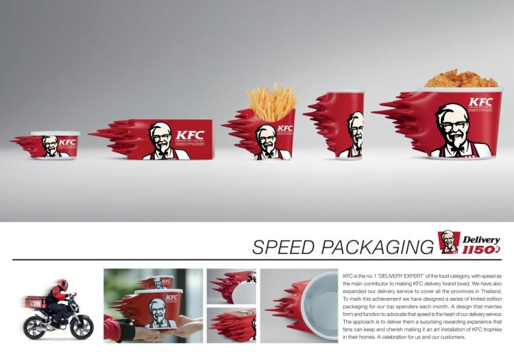 el packaging veloz de kfc