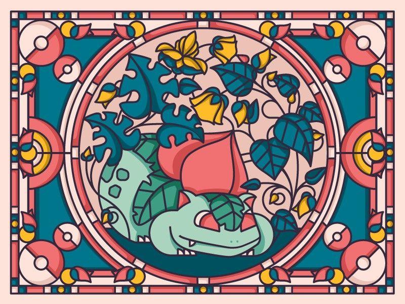 vidriera pokemon