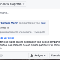 Compartir comentarios en Facebook