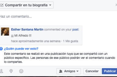 Compartir comentarios Facebook