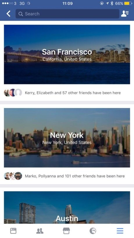 City Guides de Facebook