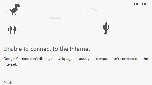 offline dino game TRex Google