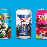 Packaging de cerveza inspirada en los videojuegos arcade