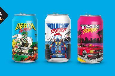 packaging cerveza videojuegos arcade