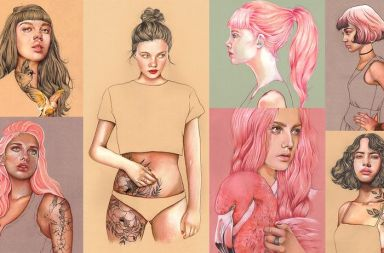 Ilustración Pastel y Lápices