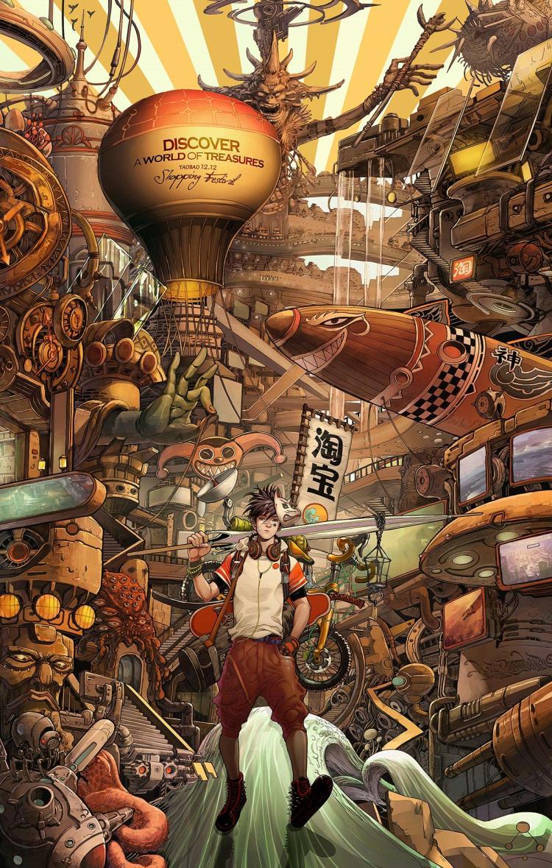 el mundo de los tesoros en taobao china creatividad