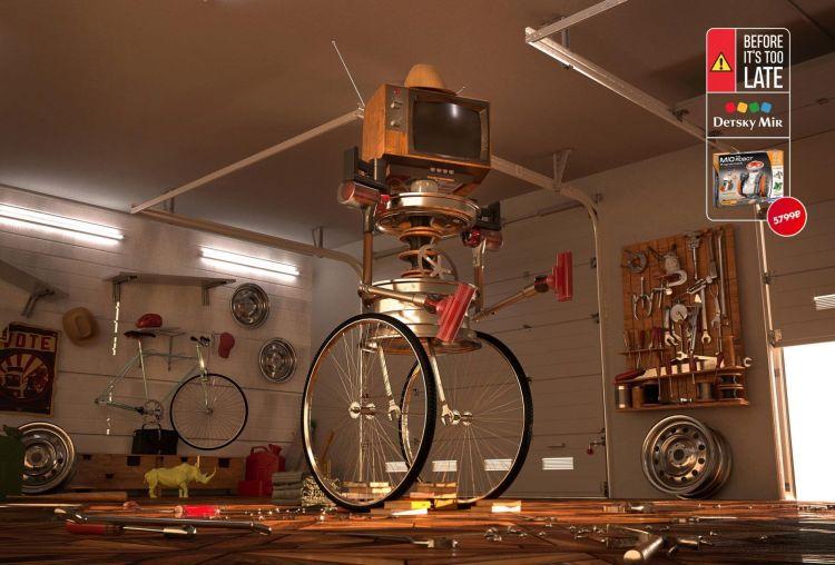 robot jugueteria con creatividad