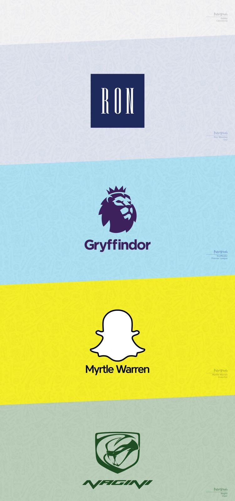 el universo de Harry Potter en logos de las marcas