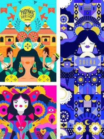 Ilustración vectorial con estilo