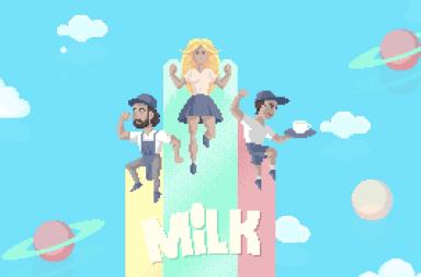 web estilo pixel art