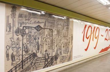 homenaje mingote metro de madrid