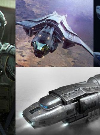 Diseño modelado nave sci fi 3D