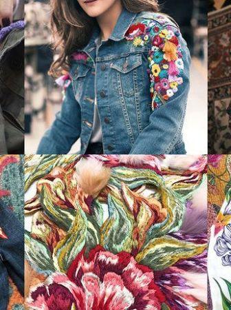 Curso diseño moda pintura bordado prendas