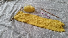 cable knit scarf Crafternoon Cabaret Club