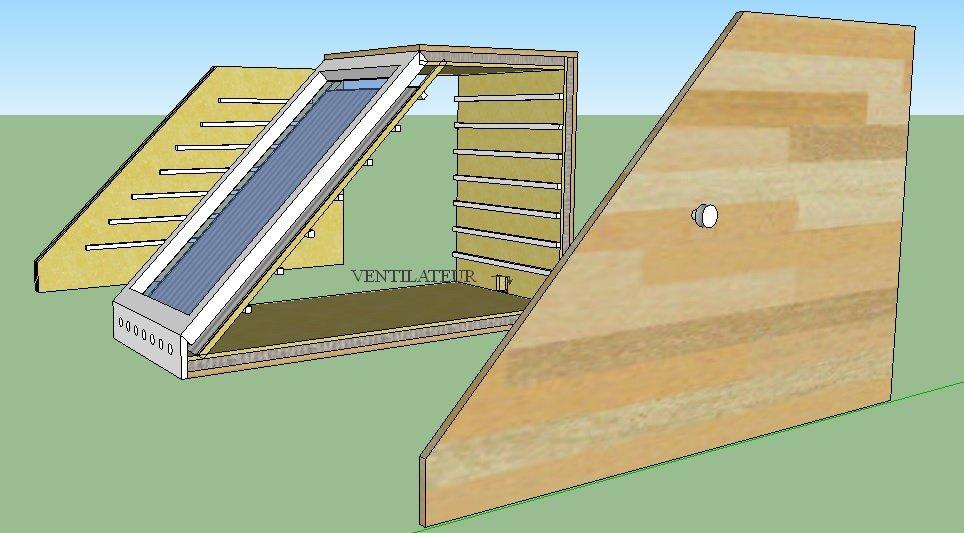 Sechoir solaire ventil forcée