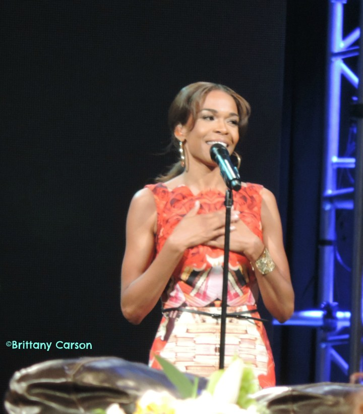 Singer Michelle Williams of Destiny's Child speaking joyously about being delivered from depression.