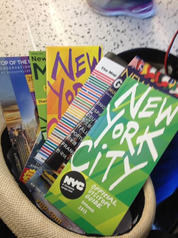 Apparently we looked lost so the nice lady at the airport gave us several maps of NYC