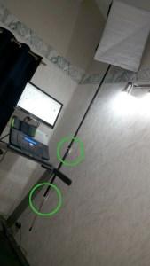 Photo of installed mast
