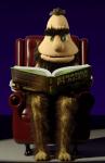 Ogg reads a book