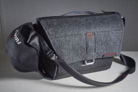 I had given up on carrying caps of all kinds on location when using other bags as the caps would end up being crushed inside, or there was simply not enough room. The Peak Design Everyday Messenger 13 makes for a terrific cap carrier and now I carry one every day, via the easily undone strap.