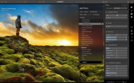 Luminar is replete with in-depth editing options and features too...