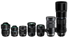 The current Olympus M.Zuiko Pro prime and zoom lens range from 8mm through to 300mm focal lengths.