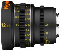 Veydra 12mm mini prime lens with metric scale, for Super16/Micro Four Thirds only.
