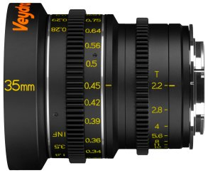 Veydra 35mm mini prime lens with metric scale, for Super 16/Micro Four Thirds and Super 35/APS-C.