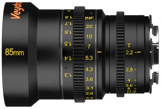 Veydra 85mm mini prime lens with metric scale, for Super 16/Micro Four Thirds and Super 35/APS-C.