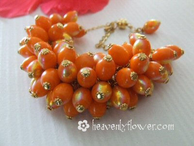 Orange Crush: The Bead Wrist Corsage