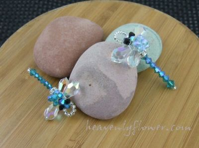 Jewelry Inspired: Tribute Charms ~ In Memory of My Mother ~ Blue Zircon Dragon Flies