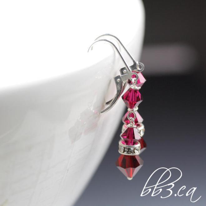 BRIDGET earrings in ruby red