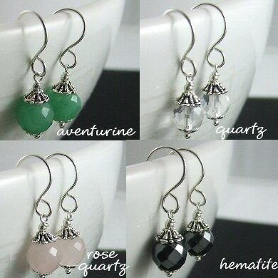 Mini Faceted Gemstone Earrings – are back!