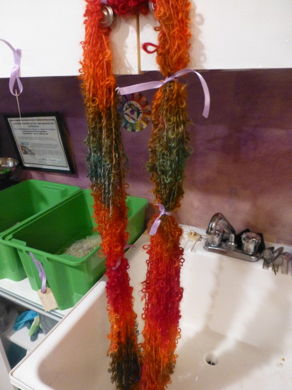 drying in the sink after dyeing