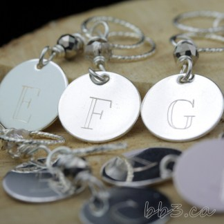 A-H engraved stitch markers have gotten an updated look but will remain silver plated