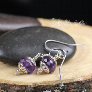 January Newsletter Link and Amethyst Earrings Giveaway