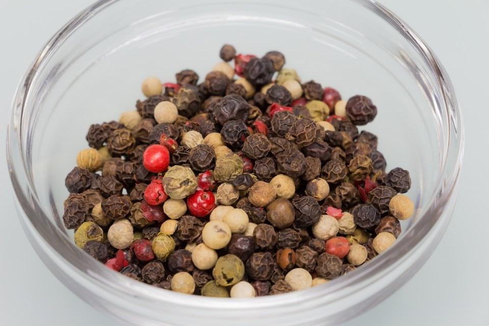 Peppercorns black pepper