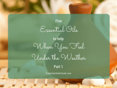 Essential oils when you feel under the weather