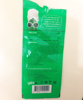 Yes To™ Cucumbers Calming Facial Mask Review | CreativityItches
