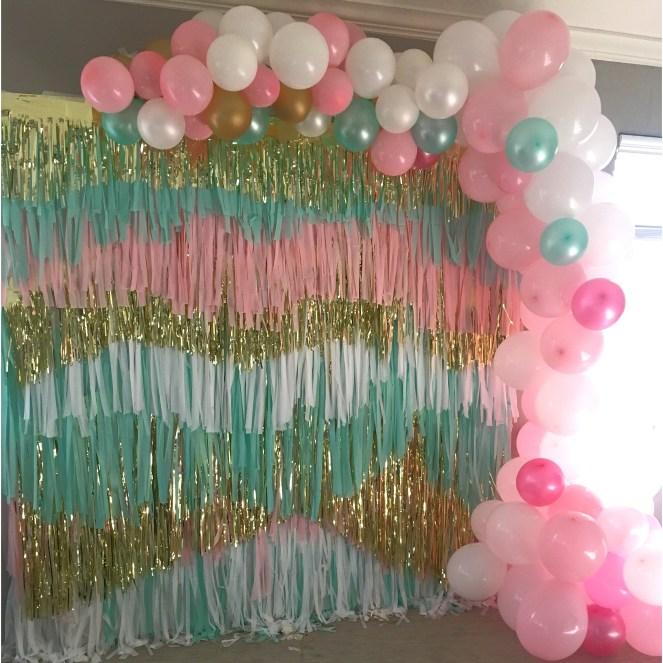 Confetti Streamer Backdrop Balloon Garland