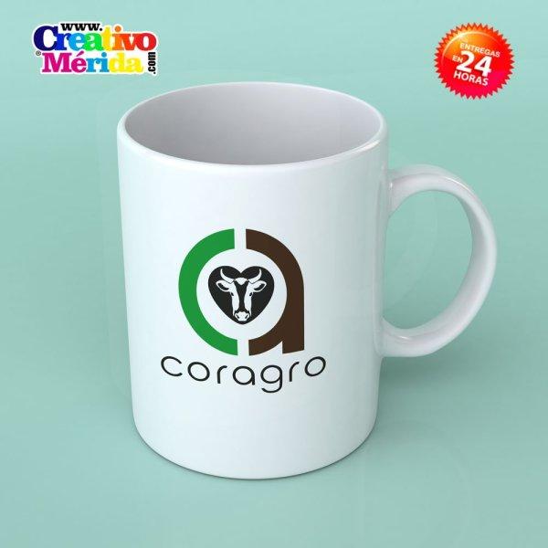 taza con logotipo