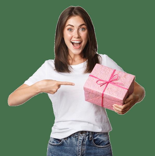 Chica con regalo