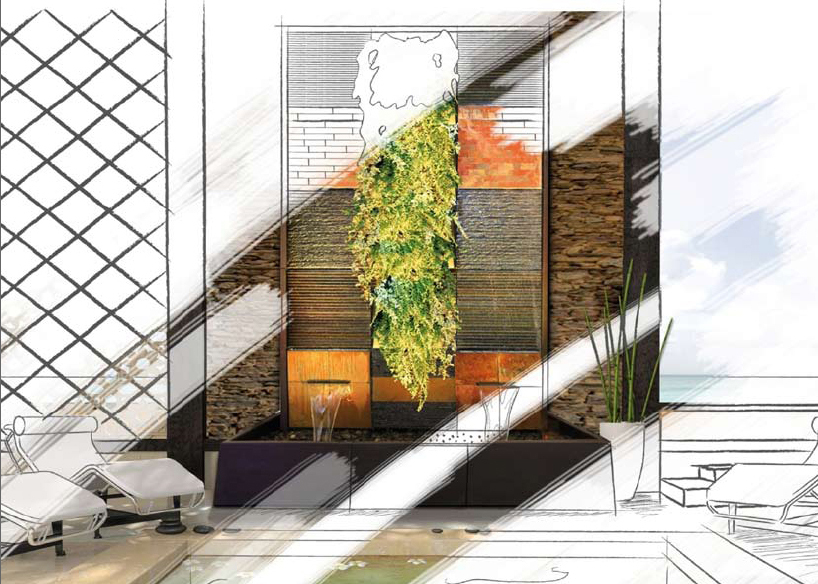 Fontana zen da interno dacqua da tavolo,usb cascata led a 3 livelli,ornamenti feng shui per interni suono dellacqua calmante e rilassante per la decorazione. Parete D Acqua Muro D Acqua A Fontana Atmosfere