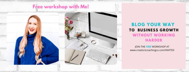 free blogging workshop