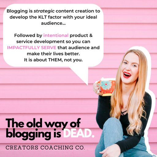 the old way of blogging is dead