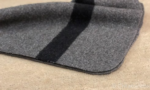 personal picnic blanket with rounded corners
