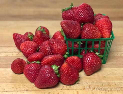 strawberry jam quart of berries